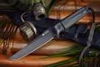 Нож туристический Croc Черный AUS8, Kizlyar Supreme
