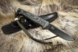 Нож туристический Santi Черный AUS-8, Kizlyar Supreme