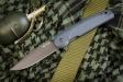 Нож туристический Biker-Z Серый титан AUS8, Kizlyar Supreme