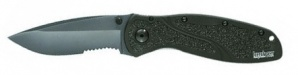 Нож складной RESCUE BLUR black blade Serrated Kershaw