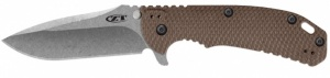 Нож KAI ZT HINDERER FLIPPER, BROWN 0561 - USA ц:коричневый